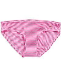 Betsey Johnson Ruched Back Bikinis - Lyst