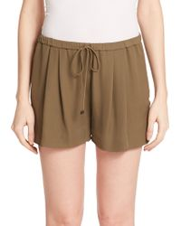 Haute Hippie Silk Drawstring Shorts - Lyst