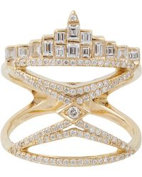 Deborah Pagani Diamond  Gold New York City Ring - Lyst