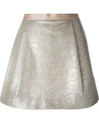 Tory Burch A-line Pleated Skirt - Lyst