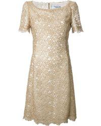 Blumarine Lace Shift Dress - Lyst
