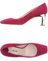 Miu Miu Red Pump - Lyst