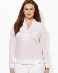 Ralph Lauren Lauren Plus Temitri Long Sleeve Shirt - Lyst
