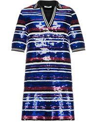 Pixie Market Rika Sequin Varsity Dress - Lyst