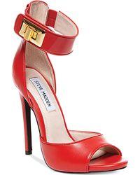 Steve Madden Women'S Mayven Two Piece Platform Sandals - Lyst