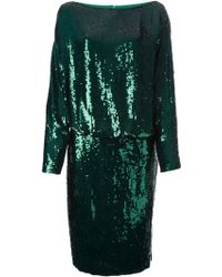 Givenchy Draped Sequined Dress - Lyst
