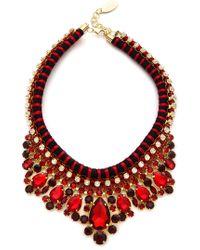 Adia Kibur Crystal Rope Necklace Burgundy - Lyst