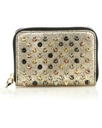Christian Louboutin | Panettone Spiked Metallic Coin Purse | Lyst