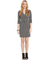 Karen Kane Geo Jacquard Panel Dress - Lyst