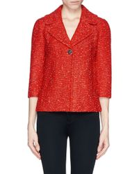 St. John Clover Leaf Lapel Knit Jacket red - Lyst