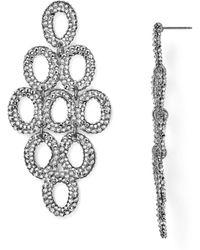 Roni Blanshay - Swarovski Crystal Kite Drop Earrings - Lyst