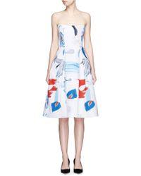 Nicholas   Iris Print Crepe Ball Dress   Lyst