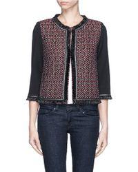 St. John Milano Knit 3/4-Sleeve Jacket - Lyst