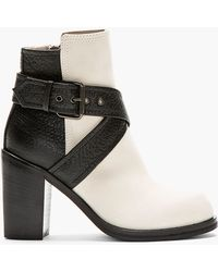 McQ - Black and Ivory Nazrul Ankle Boot - Lyst