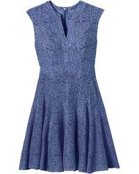 Rebecca Taylor Watercolor Star Print Godet Dress - Lyst