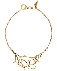 Diane von Furstenberg - Twig Gold-Plated Necklace - Lyst