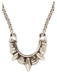 Pamela Love Antiqued Silver Small Tribal Spike Necklace - Lyst