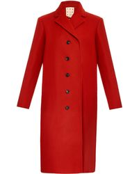 Trademark - Double-breasted Wool-blend Coat - Lyst