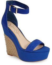 Jessica Simpson 'Arista' Wedge Sandal blue - Lyst
