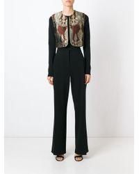 Alessandra Rich | Paisley Jacquard Silk-Blend Vest | Lyst