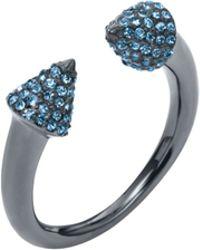 Michael Kors Pavé-embellished Gunmetal-tone Arrow Ring - Lyst