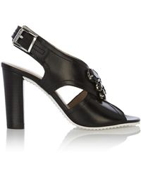 Karen Millen Jewelled High Heeled Sandal - Lyst