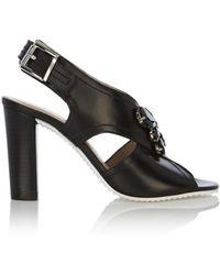 Karen Millen Jewelled High Heeled Sandal black - Lyst