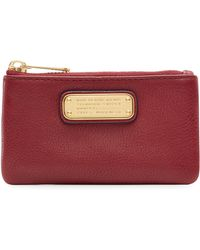 Marc By Marc Jacobs Textured Leather Key Pouch - Lyst