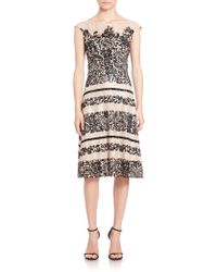 Kay Unger | Velvet Lace Dress | Lyst