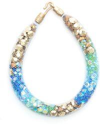 Peppercotton Sea Strand Swarovski Crystal Bracelet - Blue