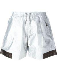 Haus By Golden Goose Deluxe Brand - Metallic (grey) Drawstring Shorts - Lyst