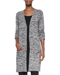Eileen Fisher Silk Twist V-neck Long Cardigan - Lyst