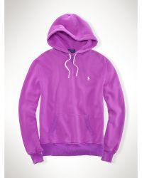 Polo Ralph Lauren Lightweight Fleece Hoodie - Lyst