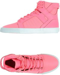 Supra High-Tops & Trainers purple - Lyst