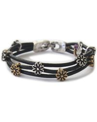 Lucky Brand - Silver And Goldtone Flower Bracelet - Lyst