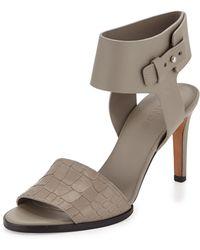 Vince Antonia Mid-Heel Leather Sandal - Lyst