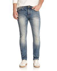 PRPS Light-Wash Selvedge Straight-Leg Jeans - Lyst
