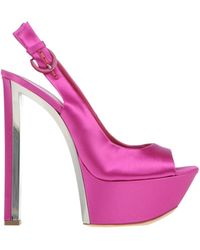 Casadei Purple Sandals - Lyst