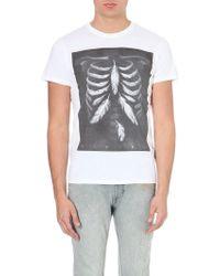 Diesel Printed Cotton T-shirt White - Lyst