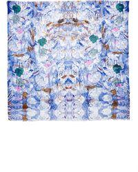 Becksondergaard Blue Cotton Fable Print Scarf - Lyst