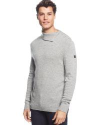 Armani Jeans Split-collar Cashmere-blend Pullover - Lyst