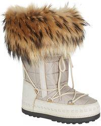 Bogner - Lace Up Fur Trimmed Boot - Lyst