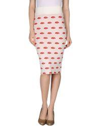 American Retro Knee Length Skirt pink - Lyst