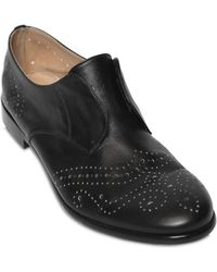 Fratelli Rossetti Brogue Leather Laceless Derby Shoes - Lyst