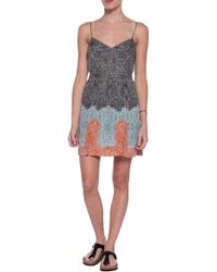 Twelfth Street Cynthia Vincent Zip Front Double Slit Mini Dress - Lyst