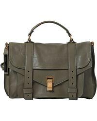 Proenza Schouler Ps1 Medium Lux Leather Satchel Bag - Lyst