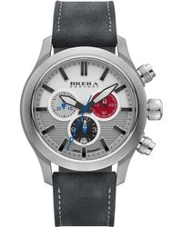 Brera Orologi Eterno Chrono Stainless Steel & Leather Chronograph Strap Watch/Grey - Lyst