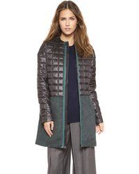Opening Ceremony Pieter Ripstop Collarless Coat  Black Multi - Lyst