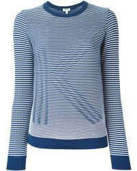 Kenzo K Striped Cotton-Blend Sweater - Lyst