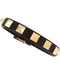 Valentino Small Rockstud Leather Bracelet - Lyst